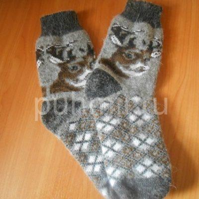 Носки шерстяные мужские бесшовные