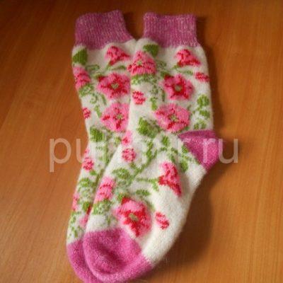 Шерстяные носки женские бесшовные