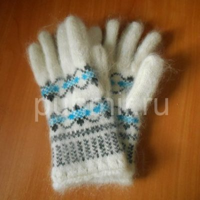Перчатки шерстяные с ангоркой