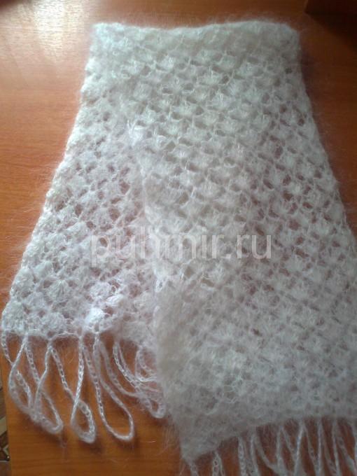 Вязанные крючком ажурные шарфики Белый ажурный шарф Счет сразу будет доступен для печати, а копия автоматически