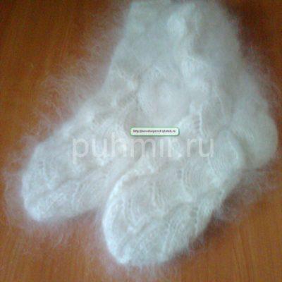 Носки ажурные пуховые