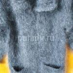 Кофта пуховая машинной вязки
