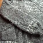 Кофта пуховая ручной вязки