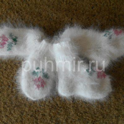 Носки и варежки в комплекте от 0-до 8 мес
