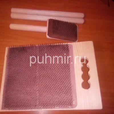 Кардерная доска для подготовки шерсти к прядению ,валянию.