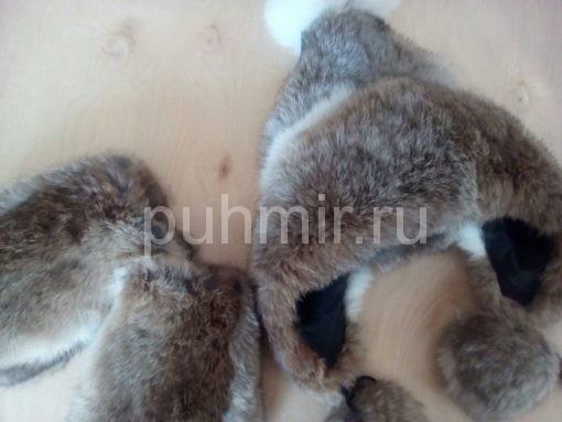 Шапка меховая и варежки меховые в комплекте
