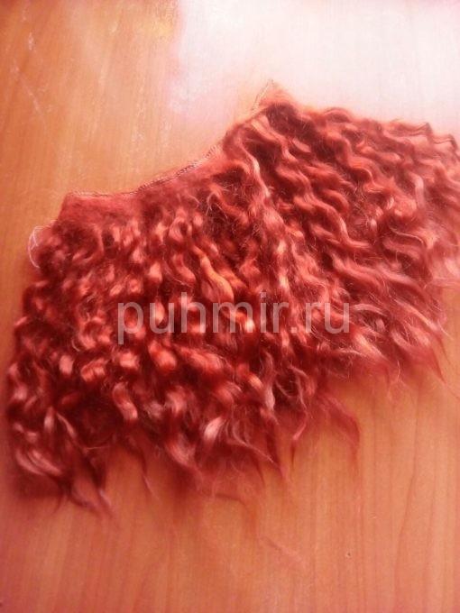 Локоны в трессе для париков куклам спиральные окрашенные 1 метр-вес 65 гр.