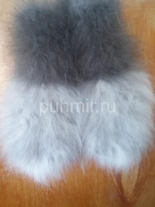 Варежки из кроличьего пуха женские  рис.№1