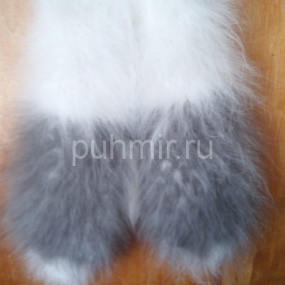 Варежки из пуха кролика женские рис.№2