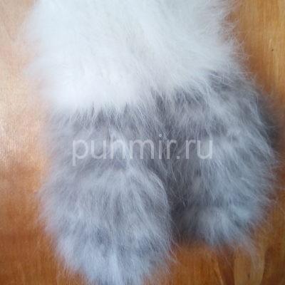 Варежки из кроличьего пуха женские рис.№3