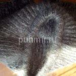 Шорты пуховые ручной вязки