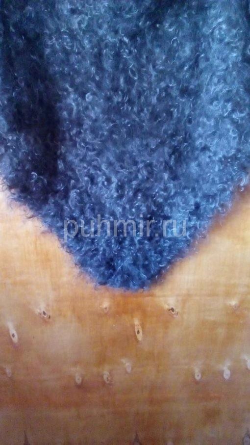 Косынка пуховая серая из козьего пуха