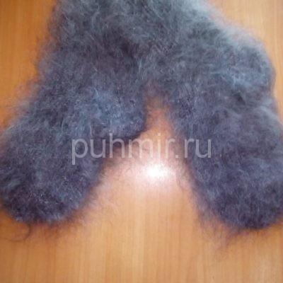 Носки пуховые серые