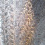Косынка пуховая ажурная светло-серая