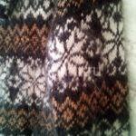 Кофта пуховая с орнаментами машинной вязки