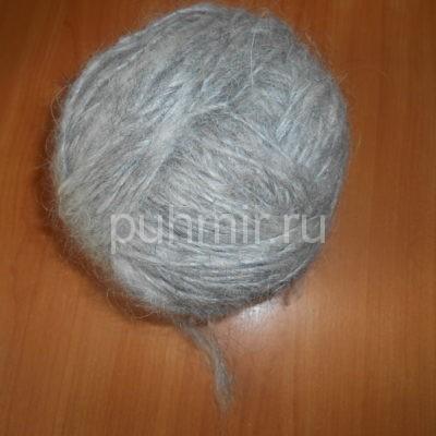 Пряжа из пуха козы светло-серая для вязания ажурных вещей