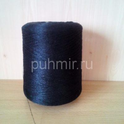 Нитки для прядения пуха, шерсти в бобинах темно-серого цвета