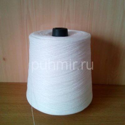 Нитки для прядения пуха, шерсти в бобинах белого цвета