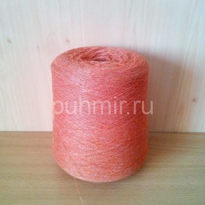 Нитки для прядения пуха, шерсти в бобинах оранжево-рыжего цвета