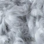 Пух кролика породы Немецкая Ангорка цвет серебро